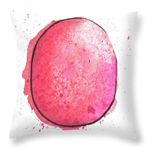 Watercolor Painting Throw Pillow featuring the digital art Watercolor Painting Of A Colorful by Andrea hill