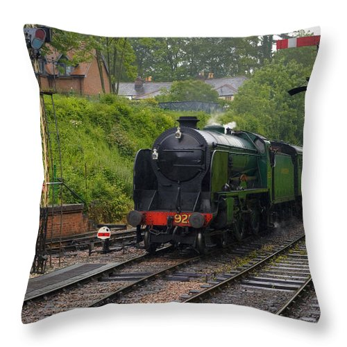 New Alresford Throw Pillow featuring the photograph Watercress Line Alresford by Joana Kruse