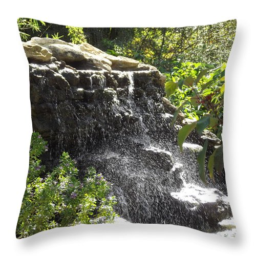 Waterfall Throw Pillow featuring the photograph Waterfall by Jennifer Lavigne