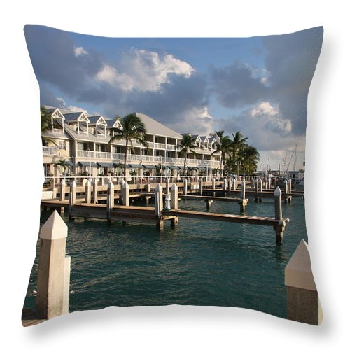 Bayfront Throw Pillow featuring the photograph Waterfront Key West by Christiane Schulze Art And Photography
