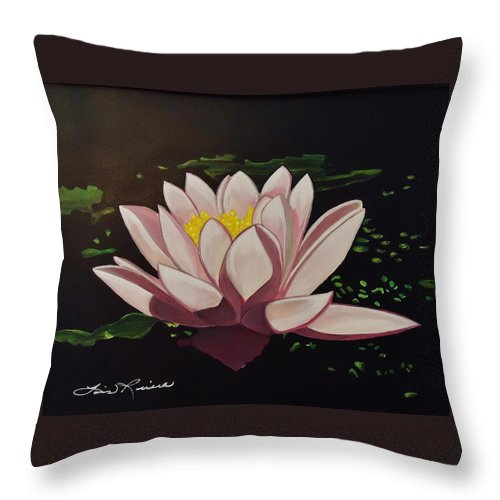 Flowers Throw Pillow featuring the painting Waterlilly by Lois  Rivera