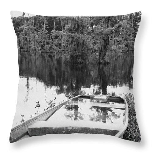 Boat Throw Pillow featuring the photograph Waterlogged by Scott Pellegrin