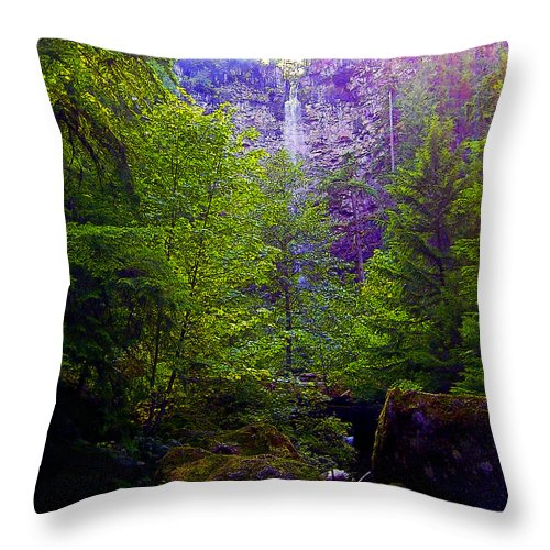 Waterfall Throw Pillow featuring the photograph Watson Falls by Michele Avanti