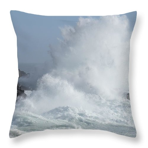 California Throw Pillow featuring the photograph Wave At Salt Point by Bob Christopher