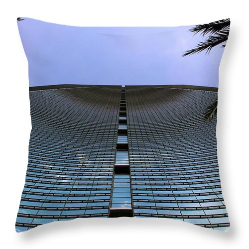 Business City Skyscraper Building Architecture Blue Throw Pillow featuring the photograph Wave Business by AR Annahita