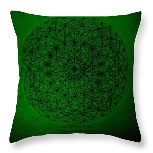 Fractals Throw Pillow featuring the drawing Wave Particle Duality II by Jason Padgett