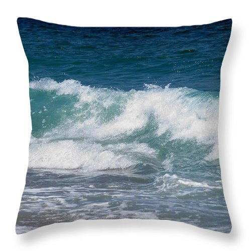 Waves Throw Pillow featuring the photograph Wave by Zina Stromberg
