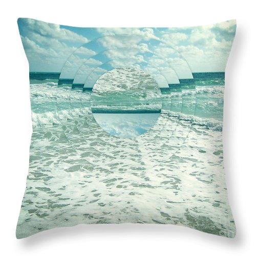 Waves Throw Pillow featuring the photograph Waves Of Reflection by Phil Perkins