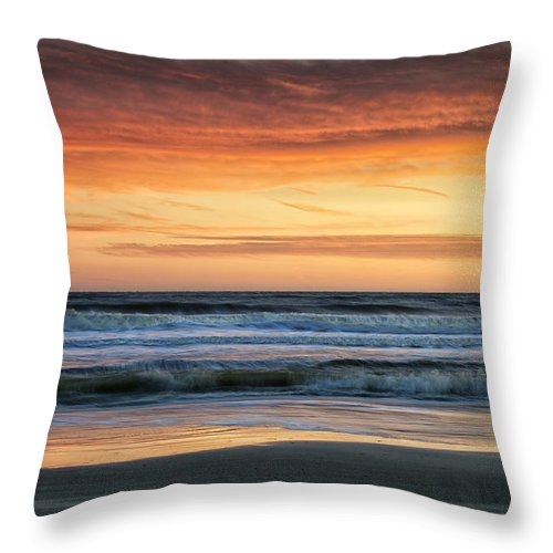 Beach Throw Pillow featuring the photograph Waves by Phill Doherty