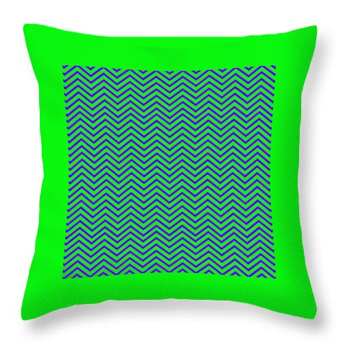 Green Throw Pillow featuring the digital art Wavy by Cassie Peters