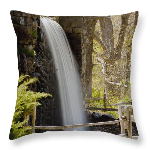Wayside Grist Mill Throw Pillow featuring the photograph Wayside Grist Mill 7 by Dennis Coates