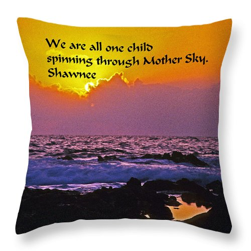Indian Throw Pillow featuring the photograph We Are One by Gary Wonning