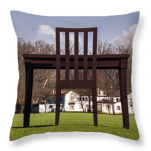 Park Throw Pillow featuring the photograph We Don't Need No Education by Alfio Finocchiaro