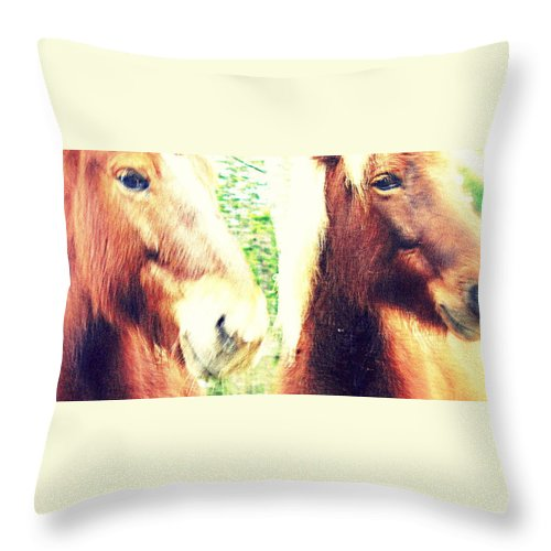 Dance Throw Pillow featuring the photograph We Look You In The Eye And Wonder Who You Are by Hilde Widerberg