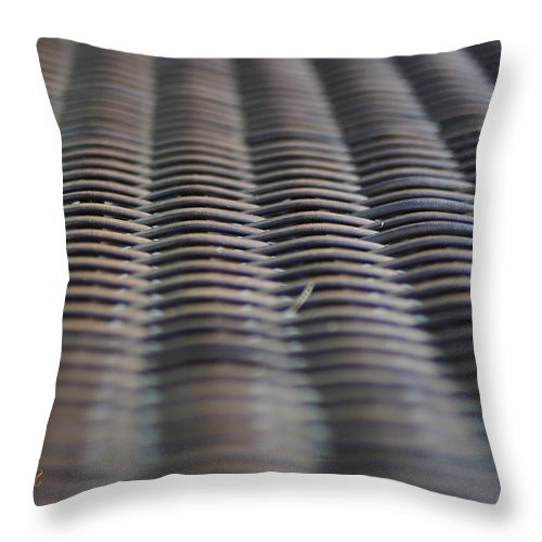 Feature Throw Pillow featuring the photograph Weaving In And Under by Paulette B Wright