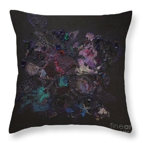 Acrylic Throw Pillow featuring the painting Wedding Bouquet by Mini Arora
