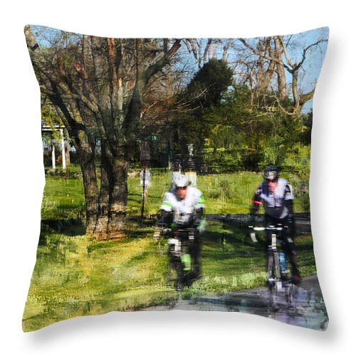 Ride Throw Pillow featuring the photograph Weekend Riders by Ericamaxine Price