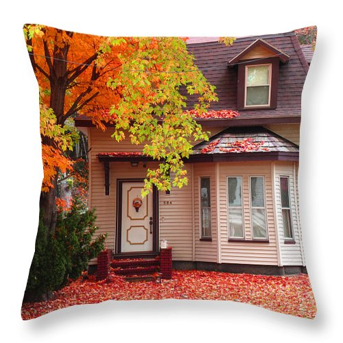 Foliage Throw Pillow featuring the photograph Weekend Work by Barbara McDevitt