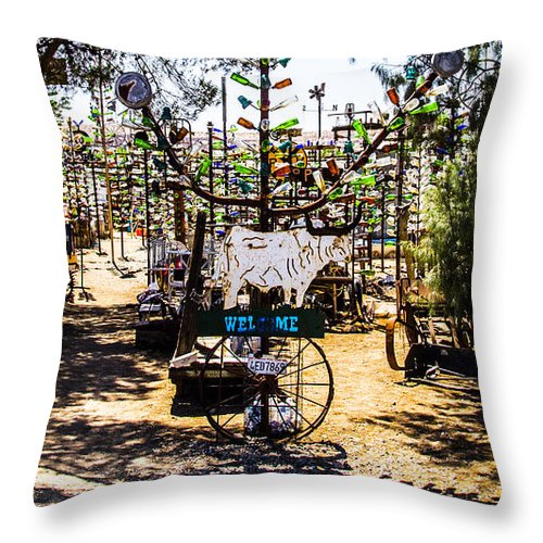 Bottleneck Ranch Throw Pillow featuring the photograph Welcome 2 by Angus Hooper Iii