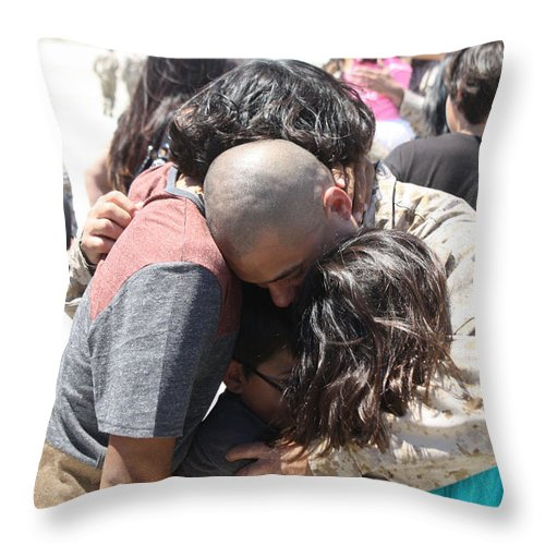 Usmc Throw Pillow featuring the photograph Welcome Home 3 by Tommy Anderson