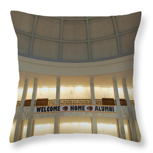 Alumni Throw Pillow featuring the photograph Welcome Home by Mark Dodd