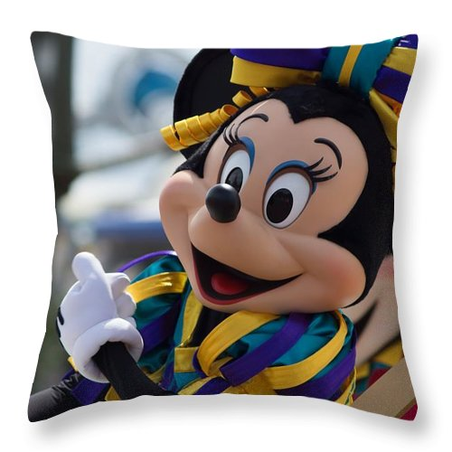 Disneyland Throw Pillow featuring the photograph Welcome To Disney by Daren Johnson