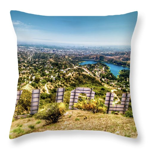 Actress Throw Pillow featuring the photograph Welcome to Hollywood by Natasha Bishop