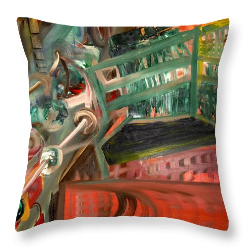 Pink Floyd Throw Pillow featuring the painting Welcome To The Machine by James Lavott