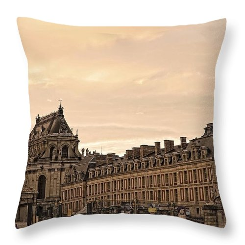 Versailles Throw Pillow featuring the photograph Welcome To The World's Largest Palace by Hany J