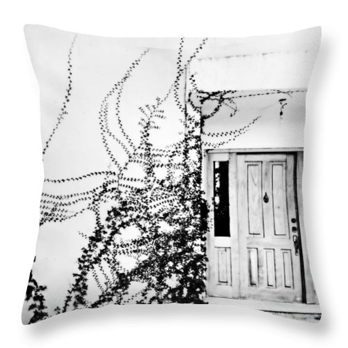 Mexico Throw Pillow featuring the photograph Welcome Vines by Marilyn Hunt