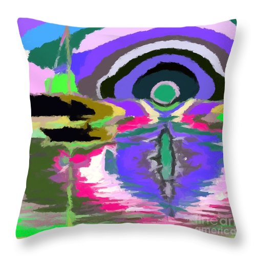 Abstract Throw Pillow featuring the digital art Well I Like It 2 by Chris Butler
