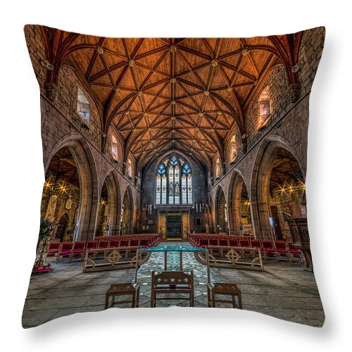Cathedral Throw Pillow featuring the photograph Welsh Cathedral by Adrian Evans