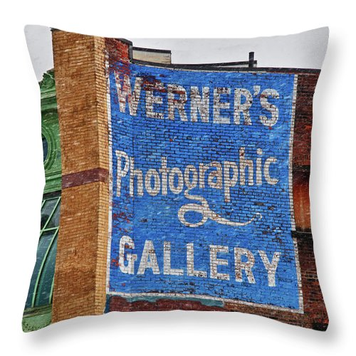 Architecture Throw Pillow featuring the photograph Werners 3844 by Guy Whiteley