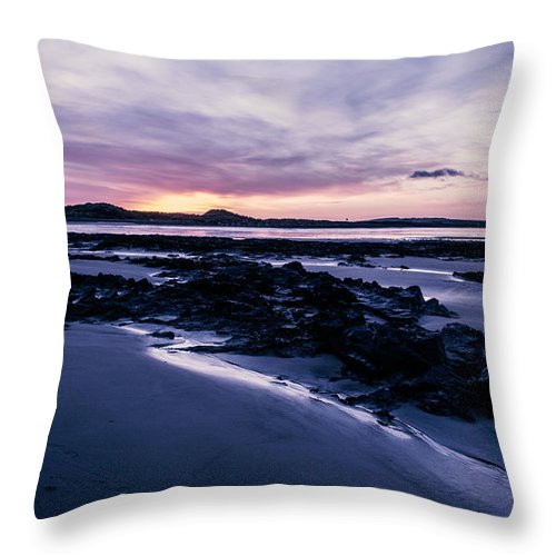 Landscape Throw Pillow featuring the photograph West Beach Lossie by Evelina Cassari