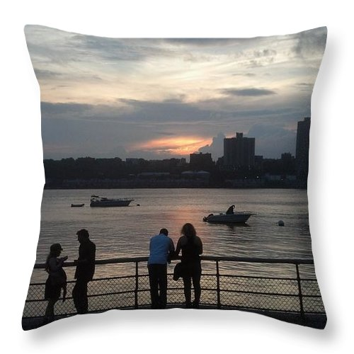 Landscape Throw Pillow featuring the photograph West Side Sunset by Mark Victors