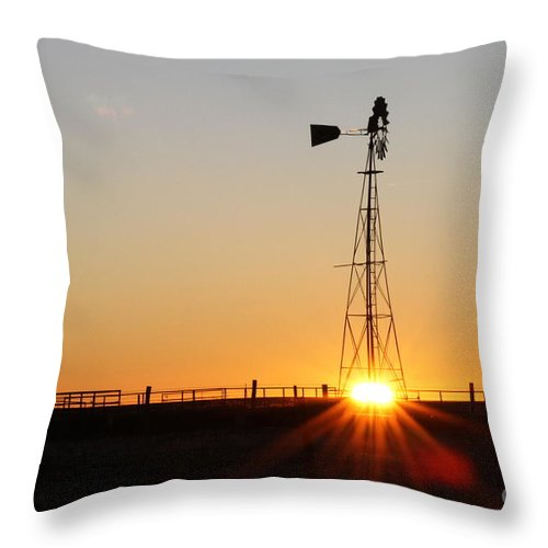 Amarillo Throw Pillow featuring the photograph West Texas Rocket by Ashley M Conger