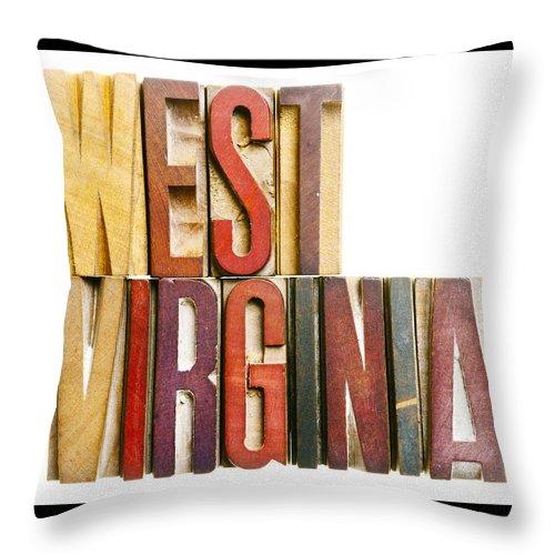 West Virginia Throw Pillow featuring the photograph West Virginia by Donald Erickson