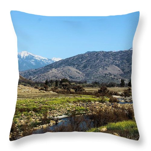 Throw Pillow featuring the photograph Western California by G Berry