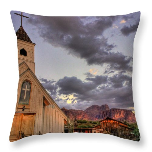 Church Throw Pillow featuring the photograph Western Chapel by Cheyenne L Rouse