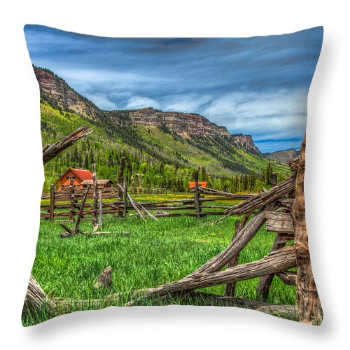 Colorado Throw Pillow featuring the photograph Western Solitude by Tom Weisbrook