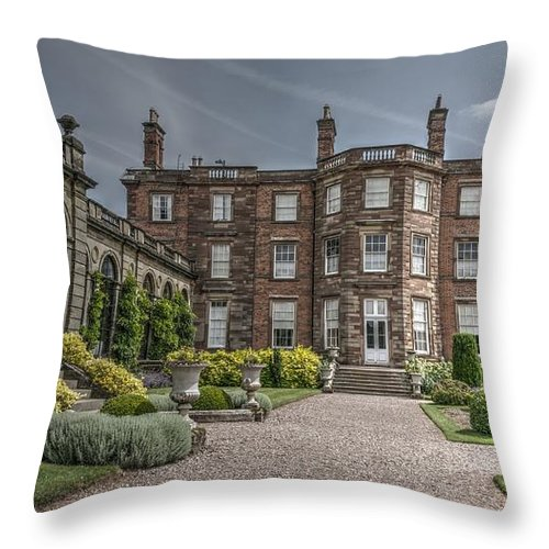 Building Throw Pillow featuring the photograph Weston Park House by Mickey At Rawshutterbug