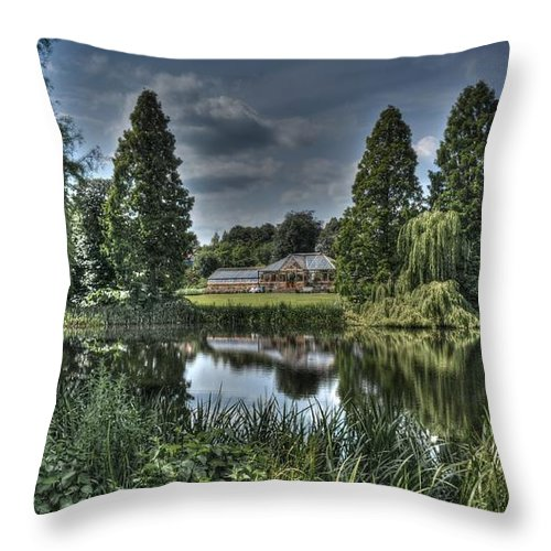 Building Throw Pillow featuring the photograph Weston Park by Mickey At Rawshutterbug