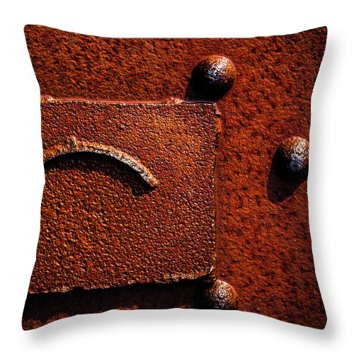 Abstract Throw Pillow featuring the photograph Wet Rust by Bob Orsillo