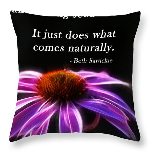 Inspiration Throw Pillow featuring the photograph What Comes Naturally by Beth Sawickie