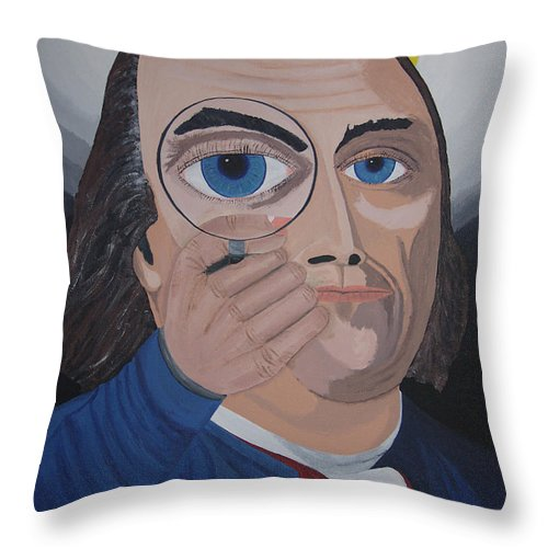 Historical Throw Pillow featuring the painting What Have You Done by Dean Stephens