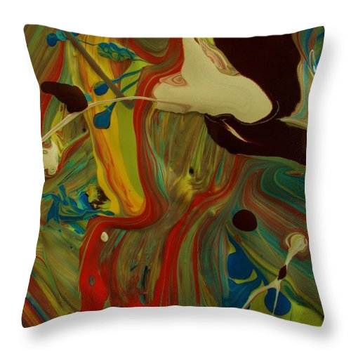 Original Throw Pillow featuring the painting What If Mad Was by Artist Ai