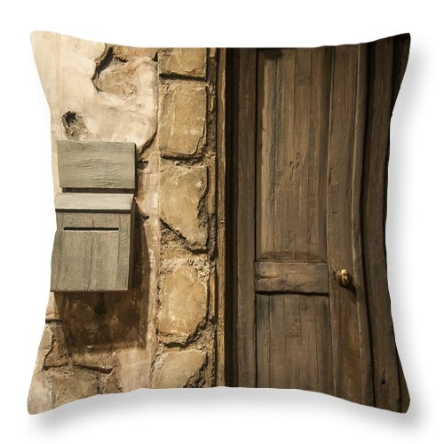 Door Throw Pillow featuring the photograph What Lies Beyond by Bianca Nadeau