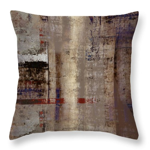Abstract Throw Pillow featuring the photograph What Remains by Carol Leigh