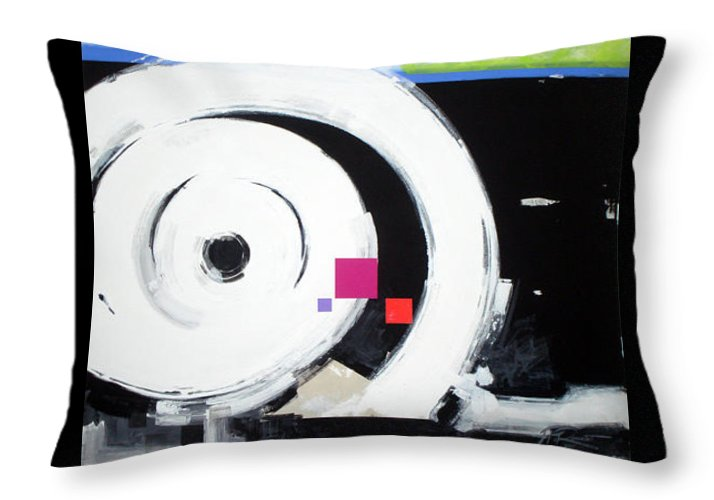 Abstract Throw Pillow featuring the painting Wheel Of Fortune by Jean Pierre Rousselet