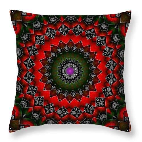 Yantra Throw Pillow featuring the digital art Wheel Of Live by Shannon Story